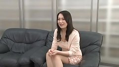Japanese MILF gets a facial at the interview