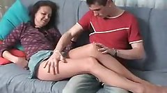 Russian Mom In Pantyhose Fucked By A Younger Guy