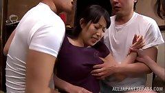Sorami Haga naughty mature babe gets hard group fucking