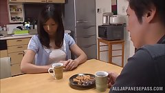 Hot mature Asian housewife Chihiro Uehara in hot 69