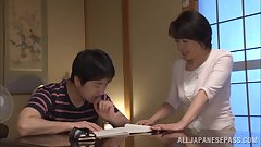 Chiaki Takeshita arousing mature Asian babe in position 69