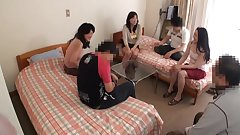 Lovely Japanese milf sex here with insane group action