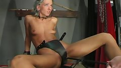 Roughly fucking a submissive whore in dungeon