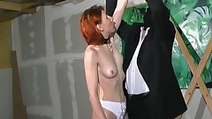 Tied redhead mature being spanked so freaking hot