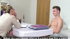FemaleAgent. Cougar gets an unexpected creampie from saucy stud
