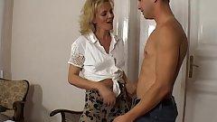 Hot Horny Cougar Seduces Young Boy