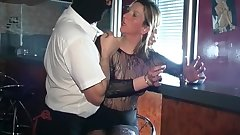 Sexy mature whore gets spanked hard by a masked man