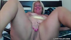 Chubby old Kat Coxx with pretty face and white booty