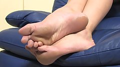 Ariana teasing with her big rough soles
