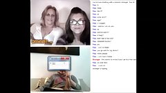 Omegle 55 2 impressed cougars flashing a big young cock