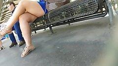 SEXY MILF LEGS CROSSED TOES AMATEUR VOYEUR CANDID 10