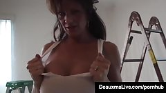 Gorgeous Wife Deauxma Takes It In All Her Holes From Hubby!