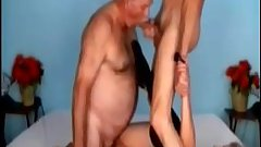 Bi 70 yr olds share a slut