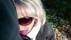 Outdoor BJ with Jasmine the Scottish Slut MILF