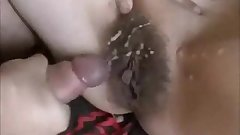 hairy amateur wife gets anal fucke and creampie