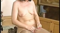 Lovely Mature Puts On Her Pantyhose (Tights)