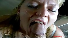 Giving mom a satisfying cumshot facial motherly instincts