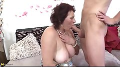 Mature mother spoiling a young son mypicss.com