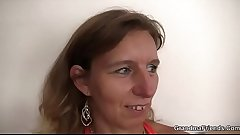 Threesome with horny mature woman