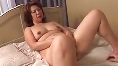 Japanese slut fucks and gets cum on her huge tits