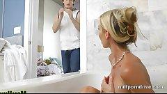 Blonde Bathtime Milf