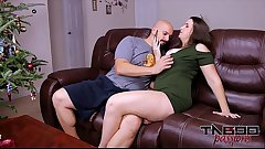 Big Ass MILF Madisin Lee Fucking Young Cock &_ Creampie for Christmas
