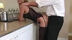 Lingerie Blondie Mommy Does She Make Him Cum