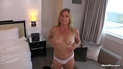Horny hot blonde MILF Fresh off vacation