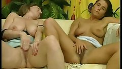 German mom and not her daughter cumming together