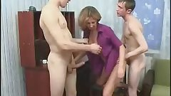 Mom 2 Son's friend fucking anal