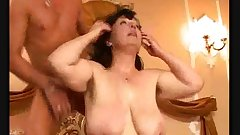 SEXY MATURE 30 brunette mature with a young man