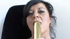 Hot Brunette Cougar Banging Big Dick