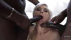 Super hardcore interracial fuck for mature that with DP anal