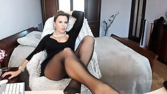 Sexy mommy in pantyhose