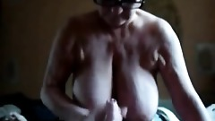 Massive Titted Granny Gives BJ, TJ& HJ to Young Boy