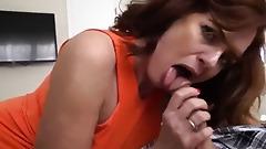 Son fucks redhead stepmother