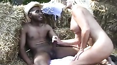 Hot MILF blows a BBC in Public