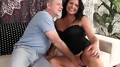 Grandma takes fat dick