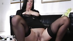Glamour milf banged by male escort