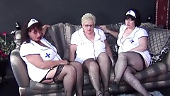 Three bbw grannies in nurses outfits