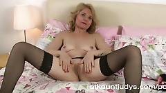 Horny GILF Isabella masturbates and gets off.