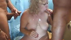 Granny is a BATHROOM COCKSUCKER