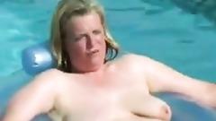 bbw mature swimming pool