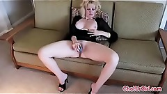 Hot Milf Masturbation On Sofa