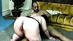Two black guys fuck fat mature BBW