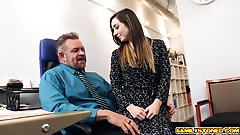 Boss Daddy got his matured cock sucked