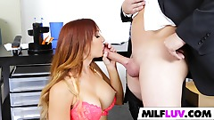 Nerdy Assistant Takes His Boss MILF