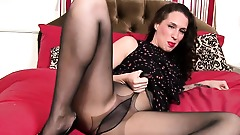 Sexy MILF is going solo in a pantyhose