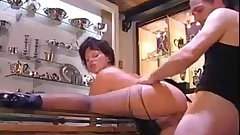 Tall Big Tits Italian Milf fucked by nervous guy